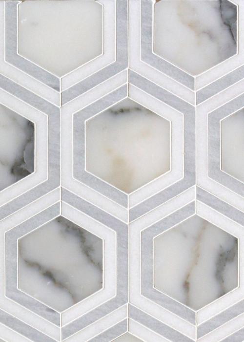 annegrat ice blend waterjet mosaic