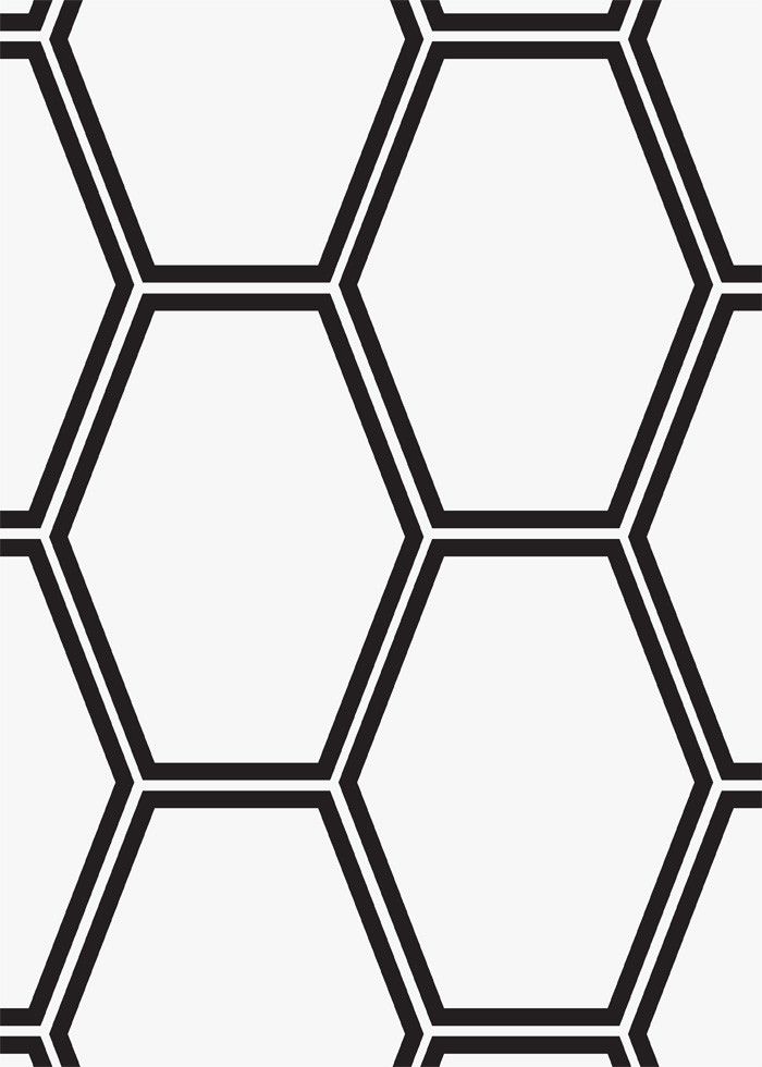 Elongated Hexagon Bardiglio Nuvalato Marble Tile Wall Flooring